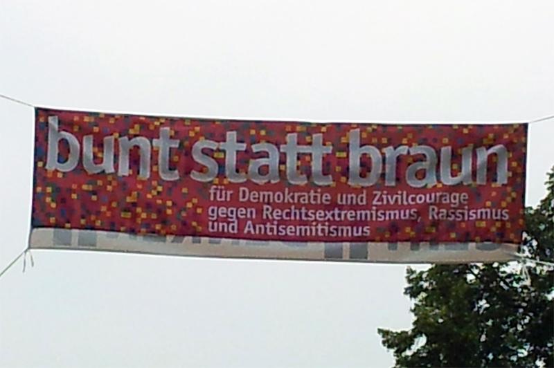 Naziaufmarsch Bad Nenndorf 2014 - Bunt statt braun